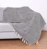 Fleurish Home Block Patterned Cotton Throw Blanket (various colors available)