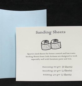 Coda Artisans Sanding Sheets (Pkg of 14)