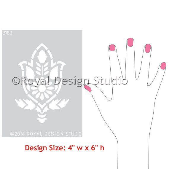 Royal Design Studios Amisha Motif Stencil