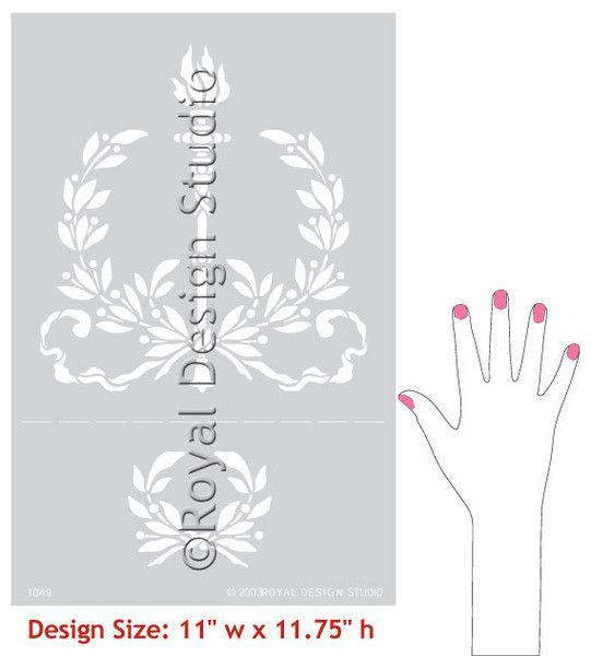 Royal Design Studios Lg Torch Garland Stencil