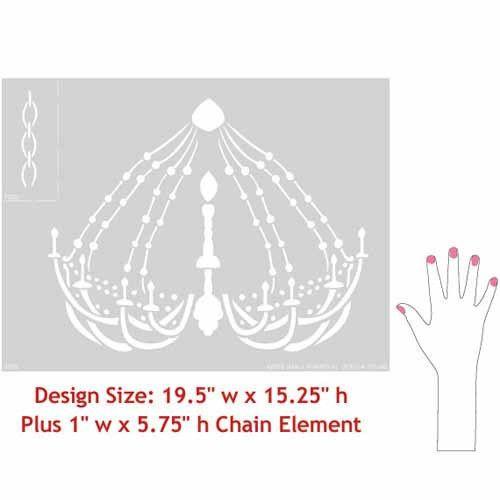 Royal Design Studios DressingRoom Chandelier Stencil