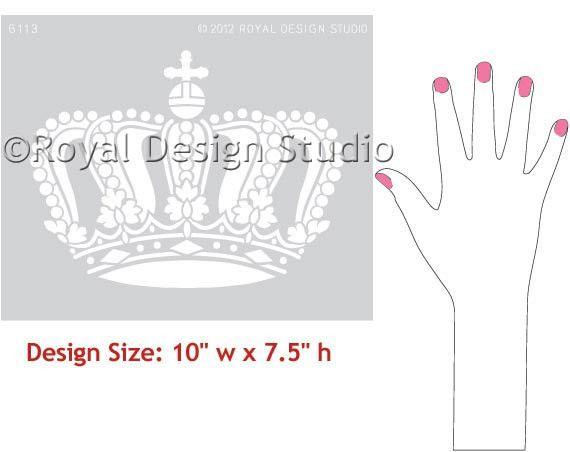 Royal Design Studios Queen Crown Stencil