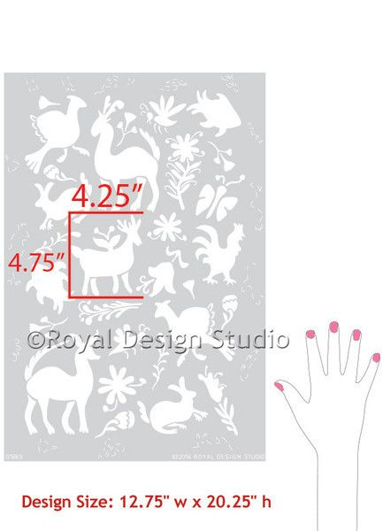 Royal Design Studios Sm Otomi Folk Art Stencil