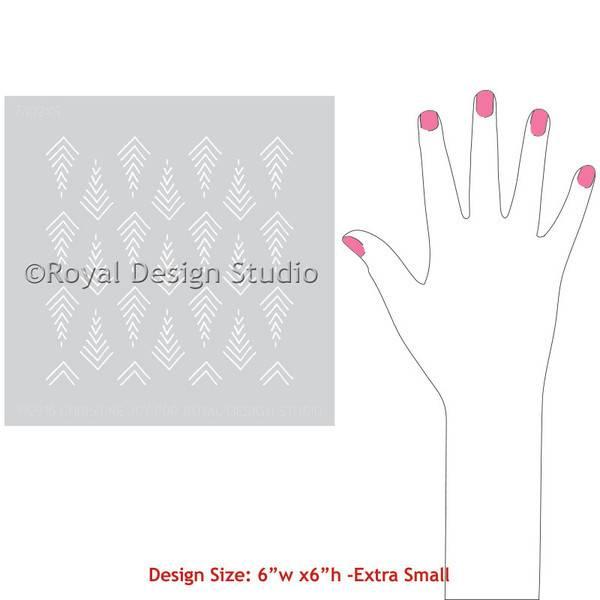 Royal Design Studios Stitched Arrows stencil