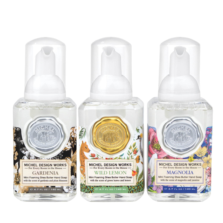 Michel Design Works Mini Foaming Soap Set ( Gardenia, Magnolia, Wild Lemon )