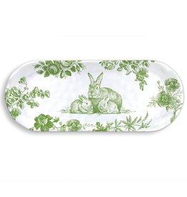 Michel Design Works Bunny Toile Melamine Serveware Accent Tray *last chance