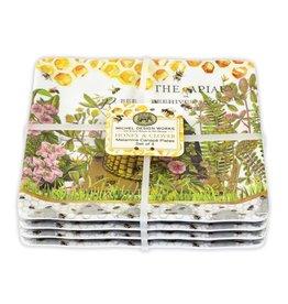 Michel Design Works Honey & Clover Melamine Serveware Canape Plate (one plate)