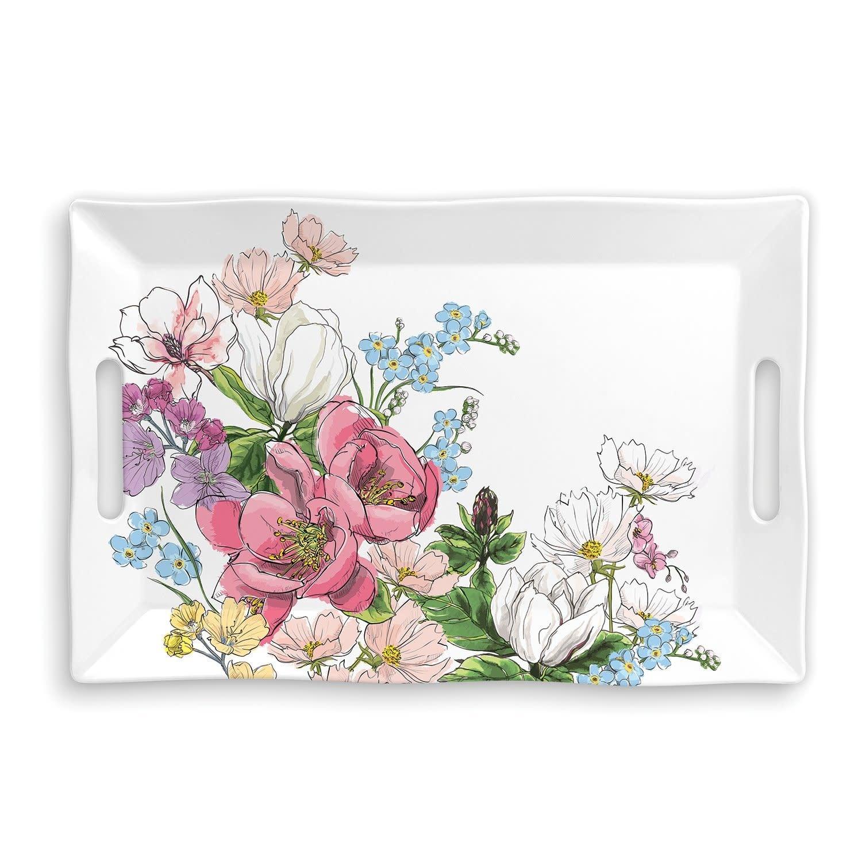 Michel Design Works Magnolia Melamine Serveware Large Tray