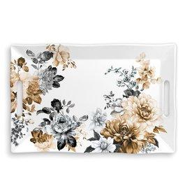 Michel Design Works Gardenia Melamine Serveware Large Tray *last chance