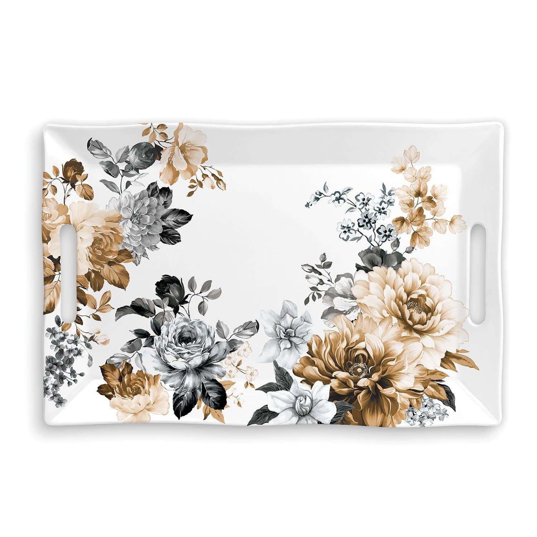 Michel Design Works Gardenia Melamine Serveware Large Tray