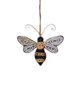 Fleurish Home Bee Ornament - Recycled Paper
