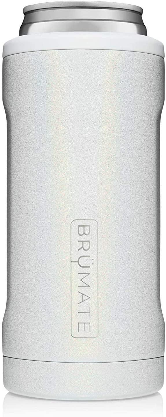 Brumate HOPSULATOR SLIM CAN-COOLER |  GLITTER WHITE