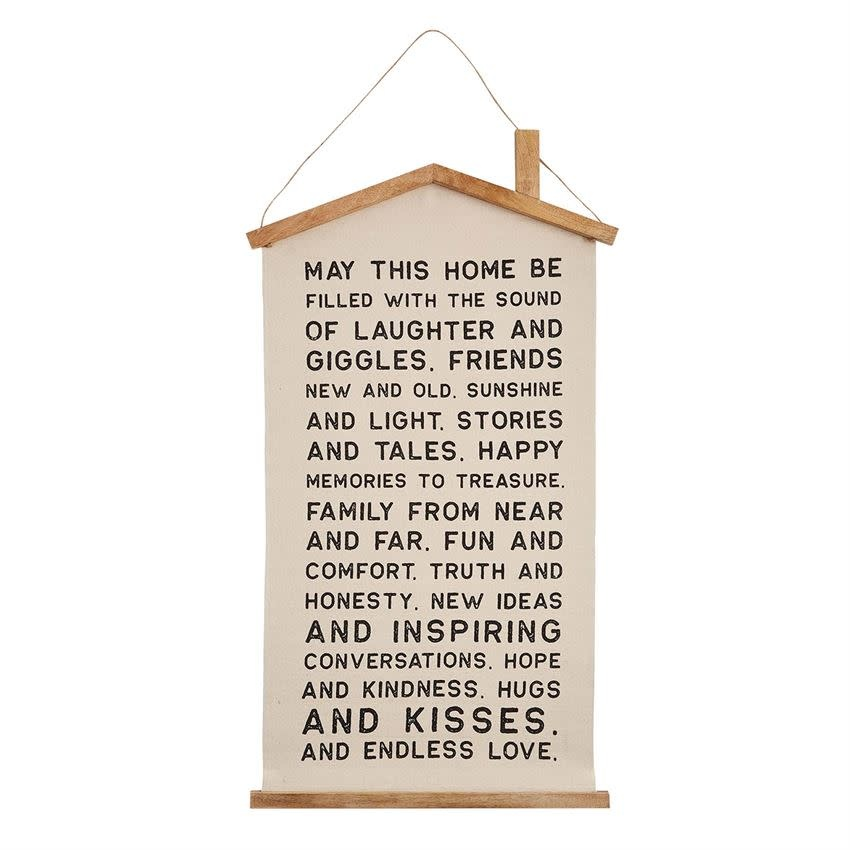Mudpie House Canvas Wall Art Hanger (May This Home...)