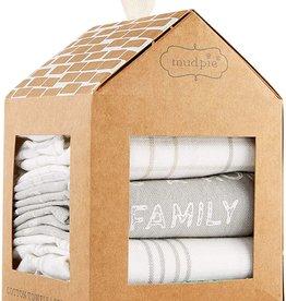 Mudpie FAMILY MAKES TOWEL SET