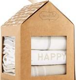 Mudpie HAPPY PLACE TOWEL SET