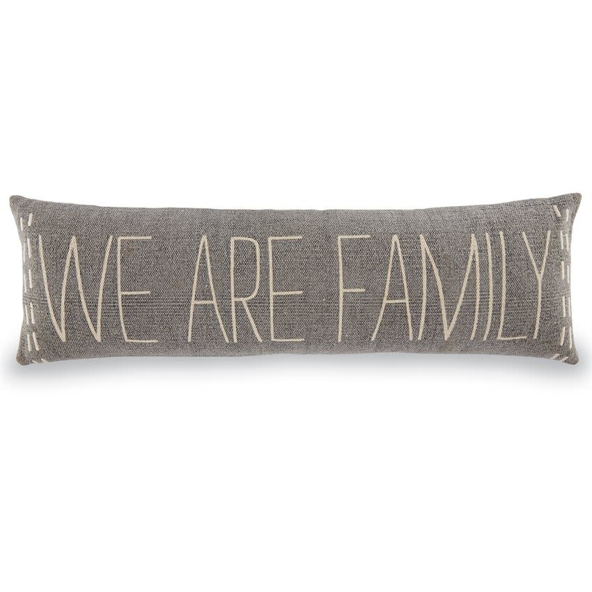 Mudpie WE ARE FAMILY LONG  PILLOW