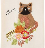 Mudpie PURR EMBROIDERED TOWEL