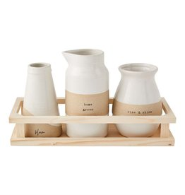 Mudpie Bud Vase Crate Set