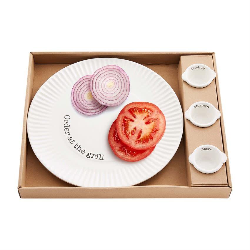 Mudpie Grill Plate & Condiment Set