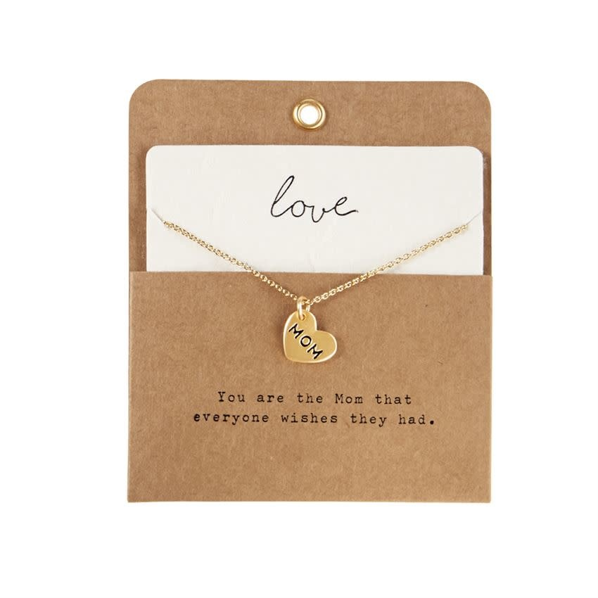 Mudpie HEART CHARM NECKLACE MOTHER