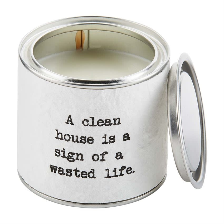 Mudpie CLEAN HOUSE TIN PAPER CANDLE