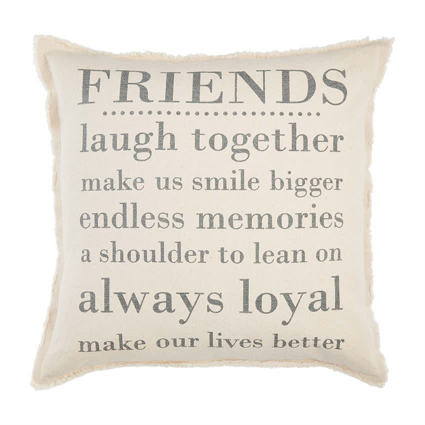 Mudpie Friends Washed Canvas Pillow