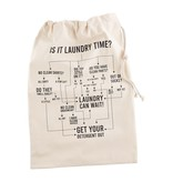 Mudpie FLOW CHART LAUNDRY TOTE