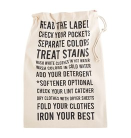 Mudpie INSTRUCTIONS LAUNDRY TOTE