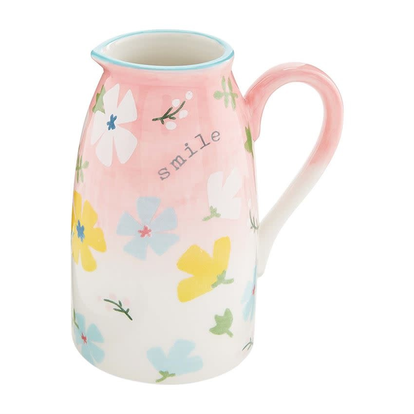 Mudpie SMALL FLORAL PITCHER BUD VASE