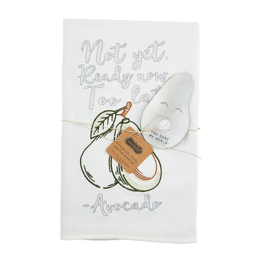 Mudpie AVOCADO TOWEL WITH TOOL SET