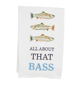 Mudpie ALL ABOUT BASS LAKE TOWEL