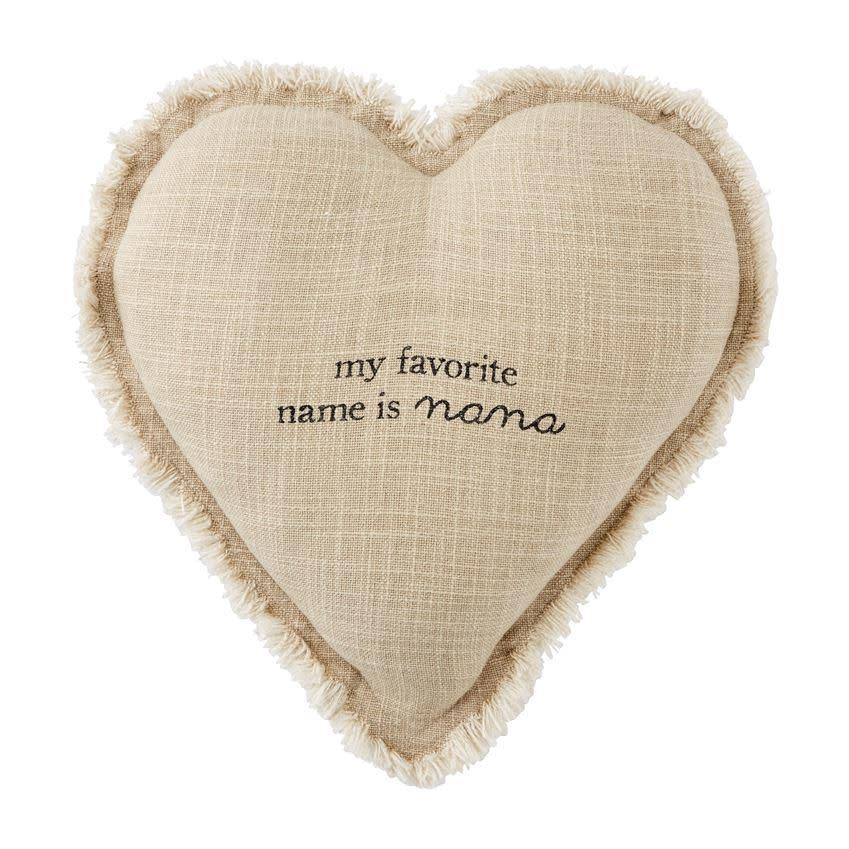 Mudpie NANA HEART PILLOW