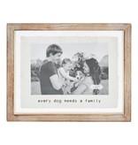 Mudpie Pressed Glass Family Dog Frame