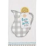 Mudpie LIVIN SWEET TEA APPLIQUE TOWEL