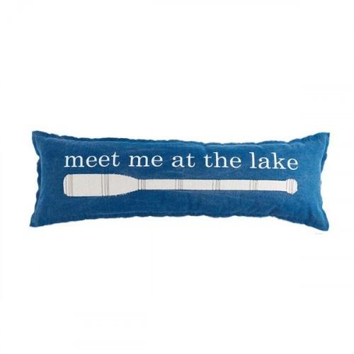 Mudpie MEET AT LAKE LAKE PILLOW