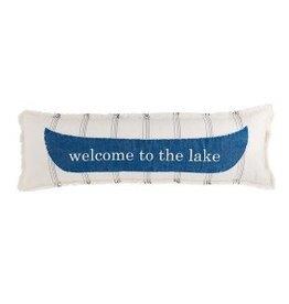 Mudpie WELCOME LONG LAKE PILLOW