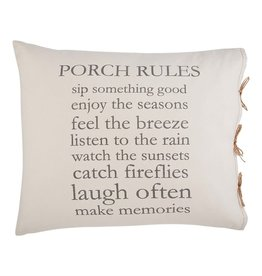 Mudpie Porch Rules Pillow