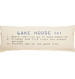 Mudpie LAKE HOUSE DEFINITION PILLOW