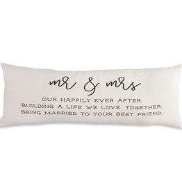 Mudpie MR AND MRS DEFINITION PILLOW