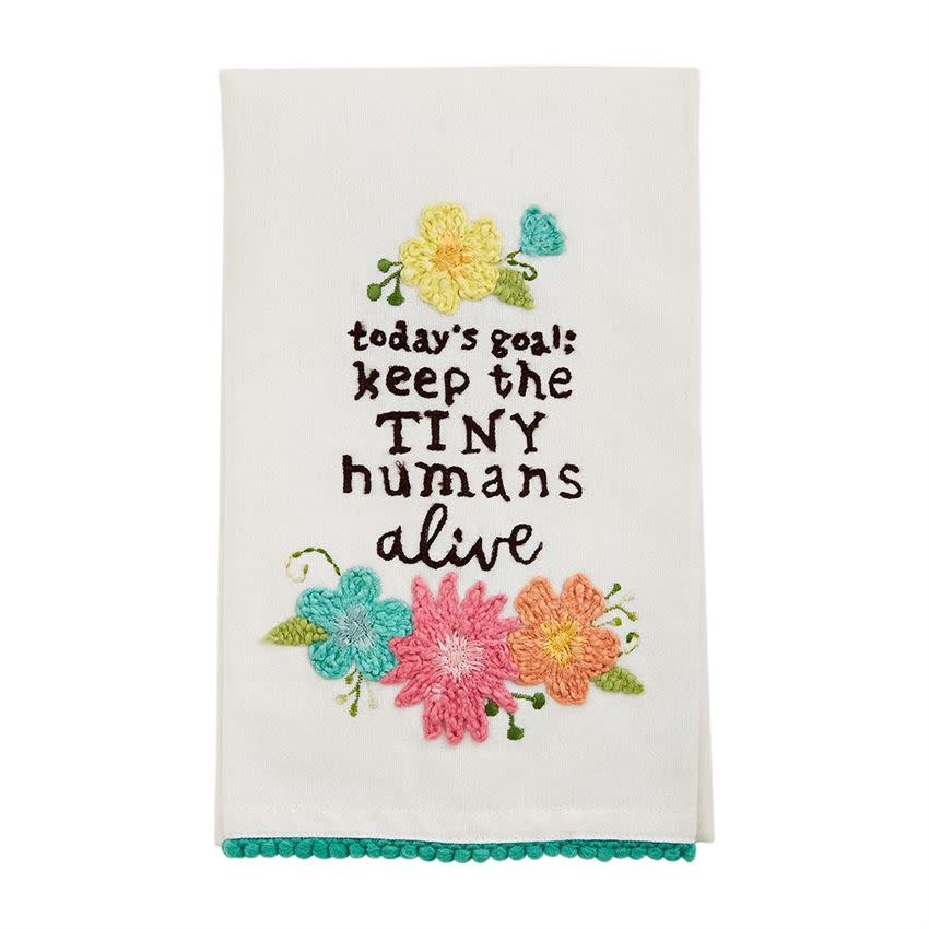 Mudpie TINY HUMANS FLORAL TOWEL