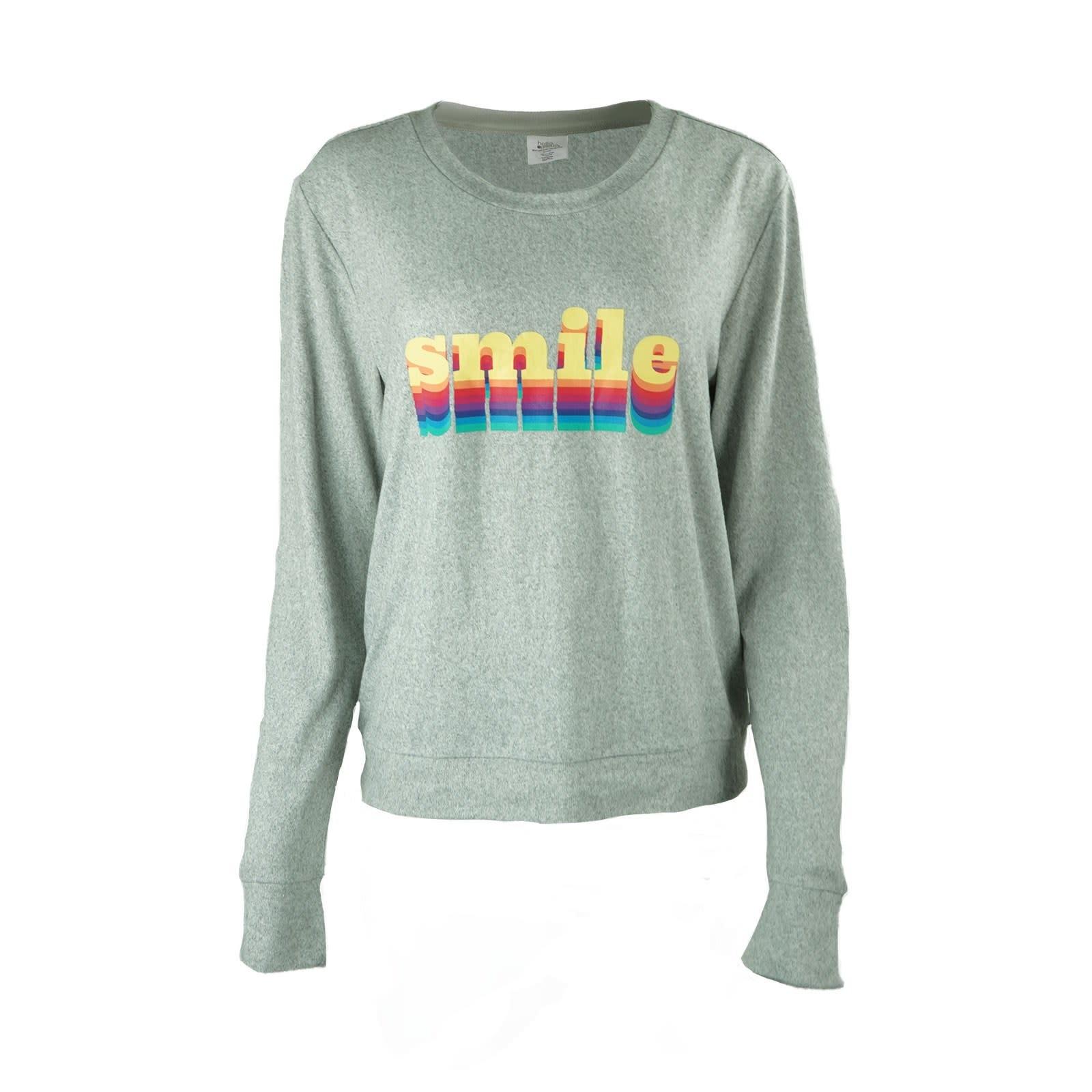 Hello Mello Grey Smile Lounge Sweater