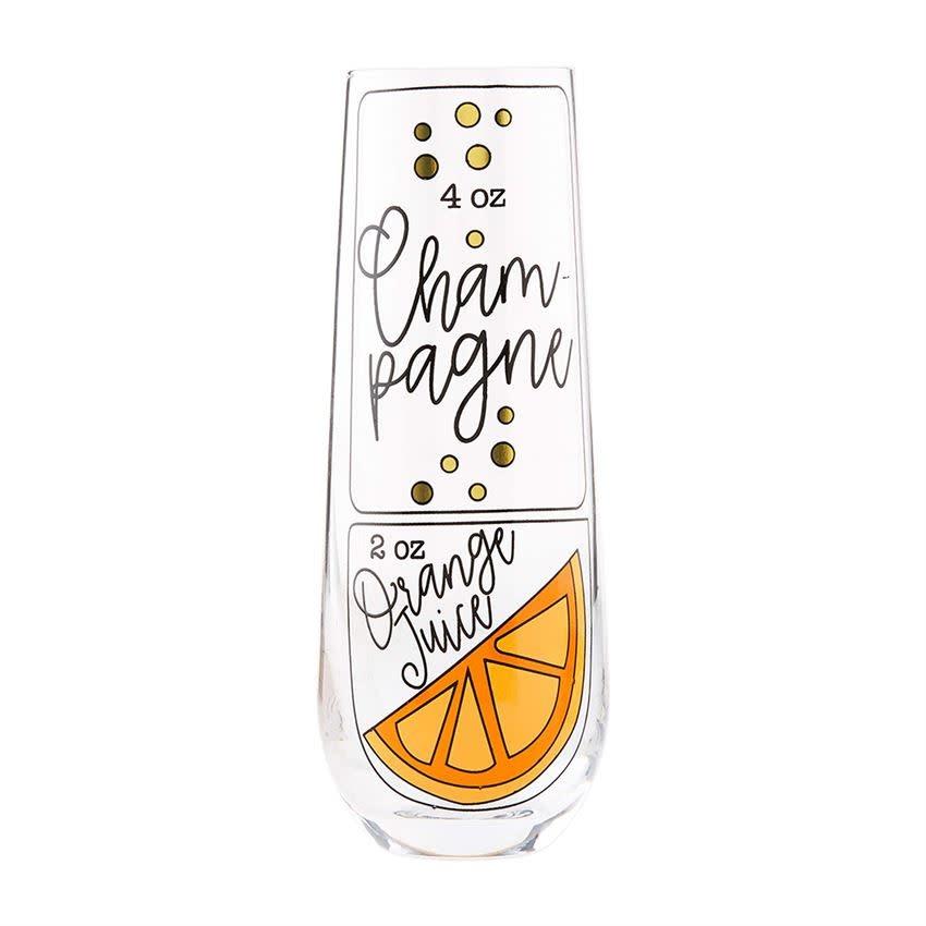 Mudpie CHAMPAGNE  BRUNCH RECIPE GLASS: MIMOSA