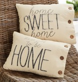 Mudpie HOME SWEET CANVAS PILLOW