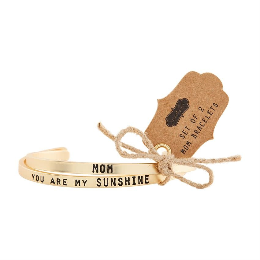 Mudpie MOM BANGLE BRACELET SET