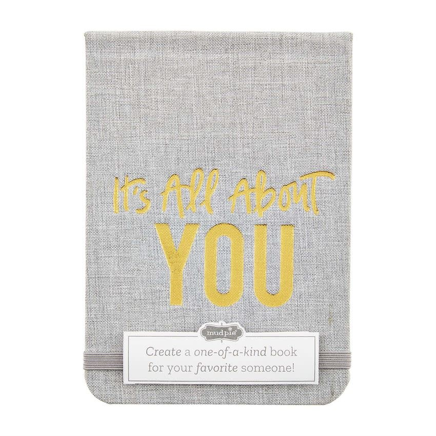 Mudpie ALL ABOUT YOU: FILL IN THE BLANK BOOK