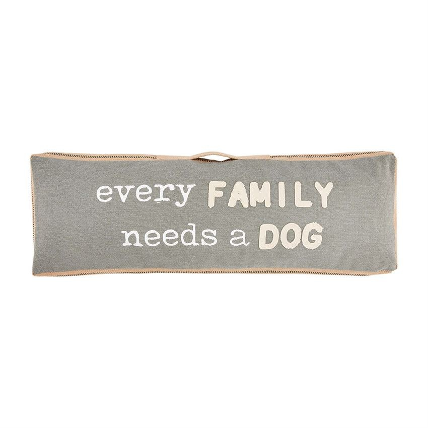 Mudpie EVERY FAMILY LONG DOG PILLOW