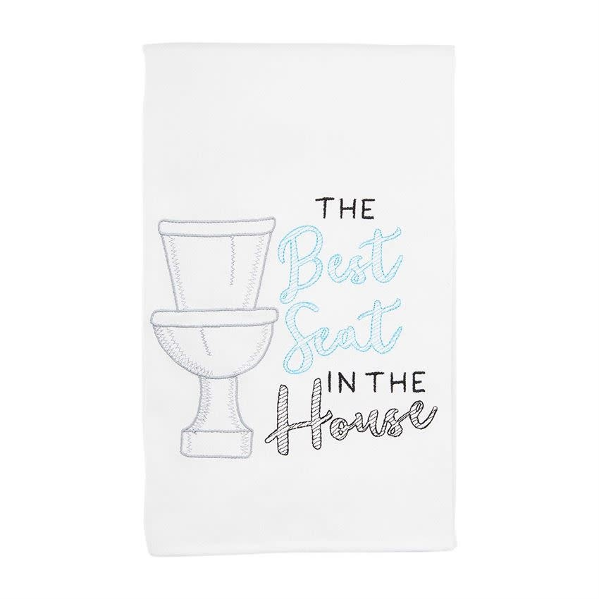Mudpie TOILET EMBROIDERED TOWEL