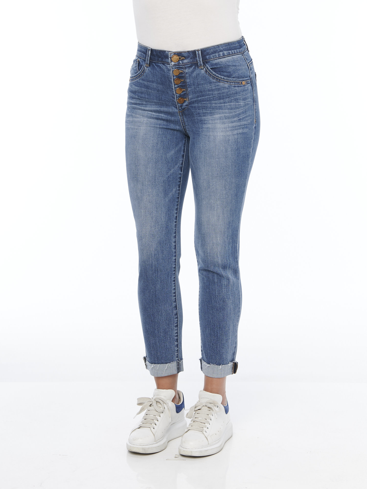 Democracy HIGH RISE BUTTON FLY VINTAGE SKINNY JEAN