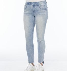 Democracy Light Blue Denim Curved Fray Ankle Length Skinny Jeans