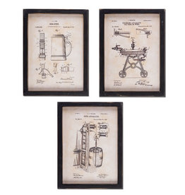 Fleurish Home Wood Beer Patent Print (choice of 3 styles)